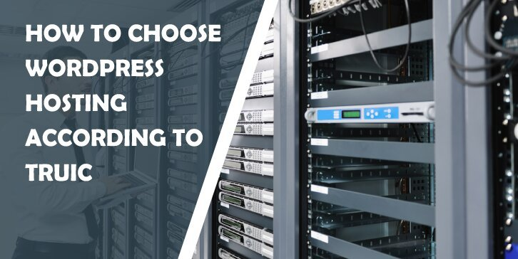 How to Choose Your WordPress Hosting According to TRUiC