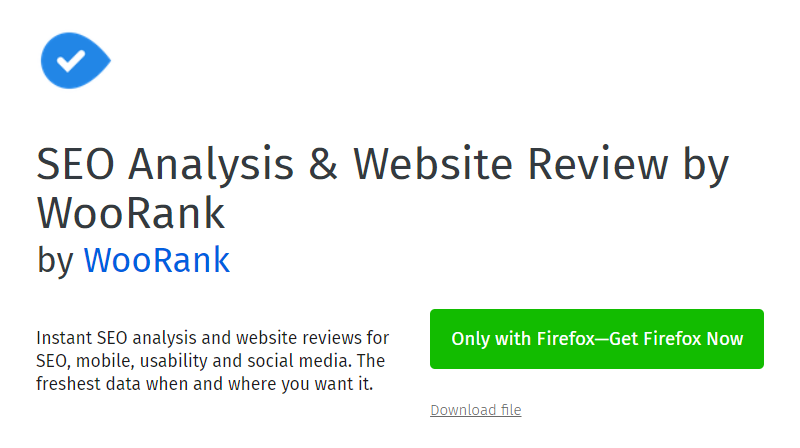 SEO Analysis & Website Review by WooRank extension