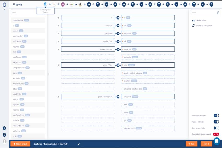 SyncSpider dashboard