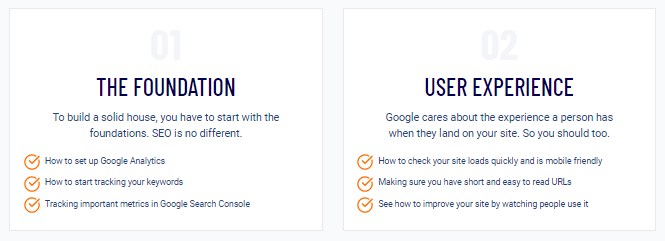 SEO Checklist foundation and user experience modules