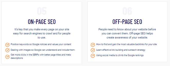 SEO Checklist on-page SEO and off-page SEO modules