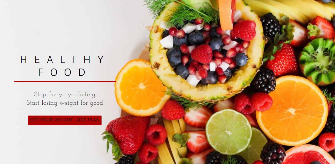 UnderConstructionPage plugin Healthy Food template