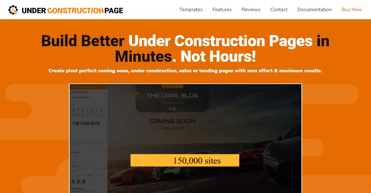 UnderConstructionPage plugin