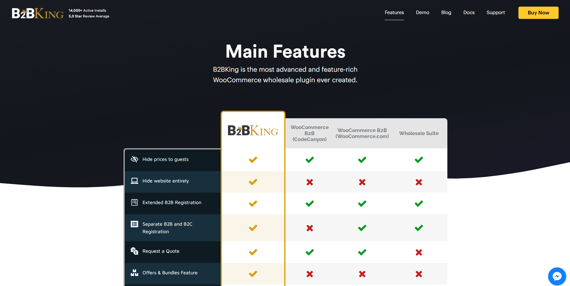 B2BKing pro version features