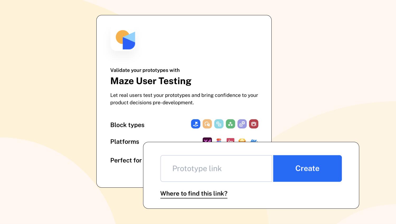 Maze user testing