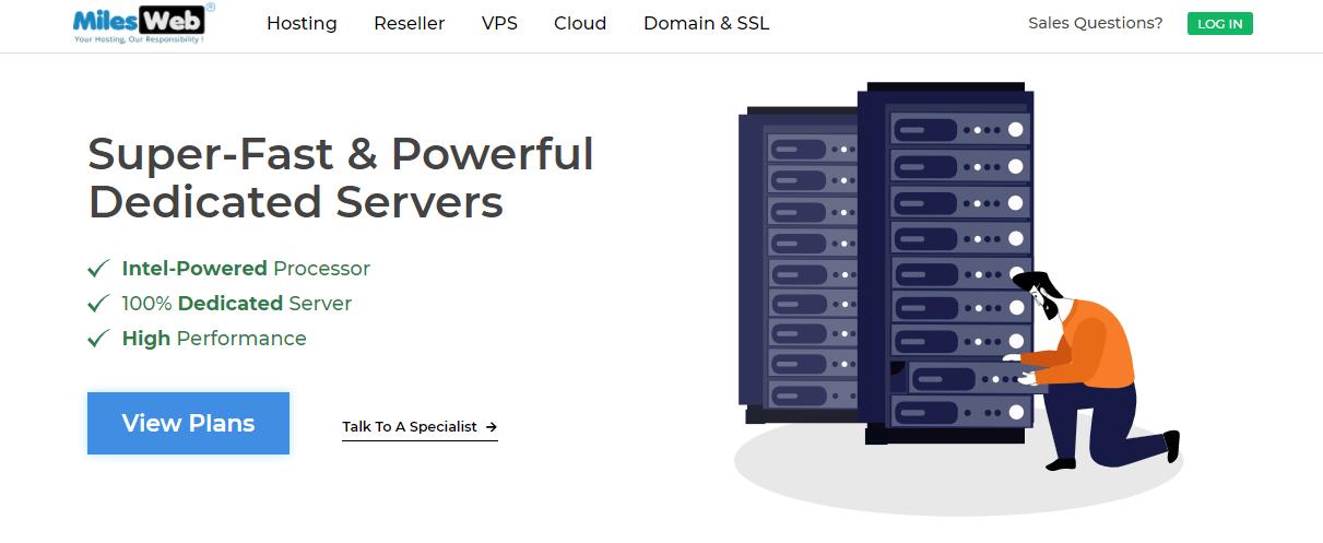 MilesWeb dedicated servers