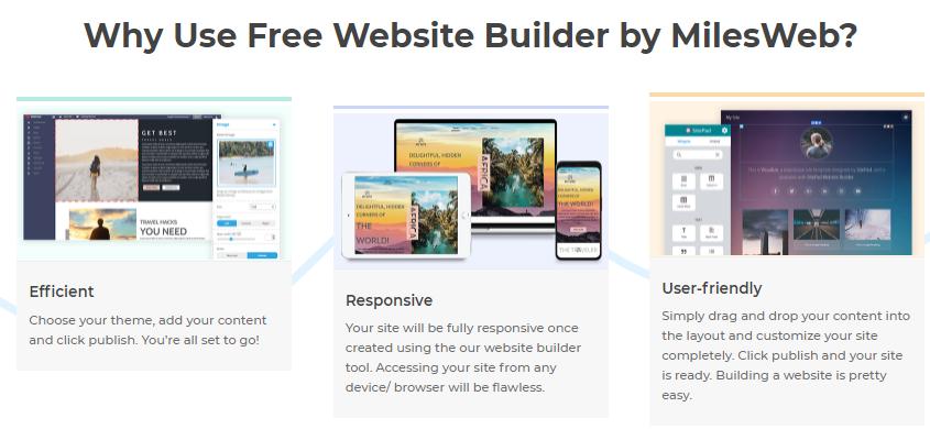 MilesWeb website builder