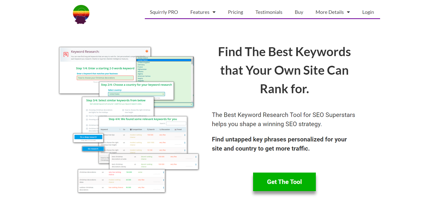 Squirrly SEO Keyword Acquisition feature