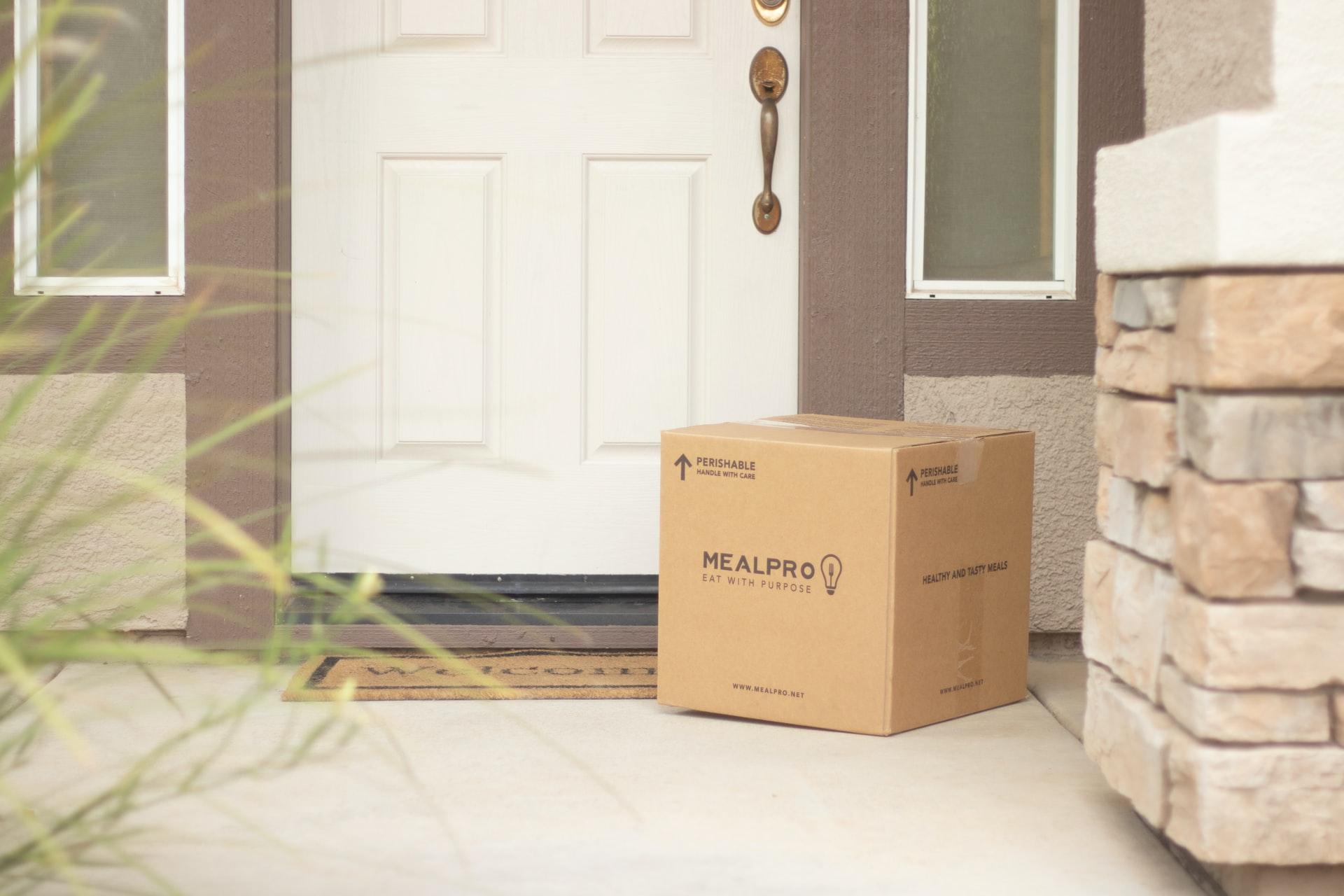 Cardboard box delivery