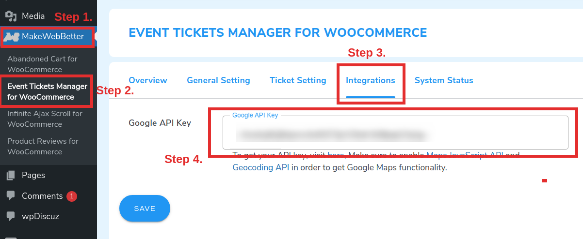 Configuring the ticket settings part 2