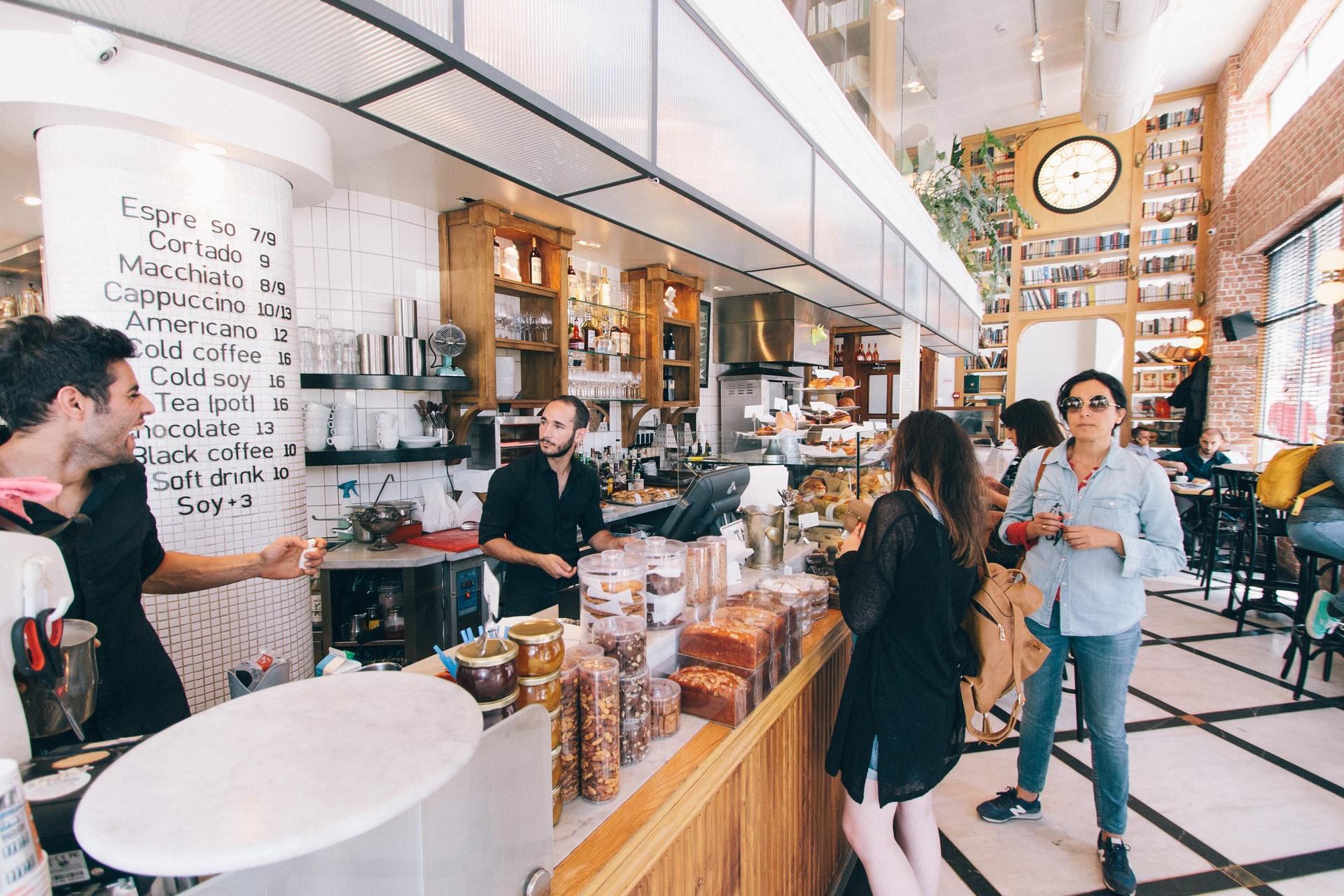 People in coffee bar