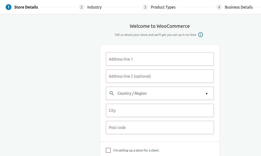 Store details on WooCommerce